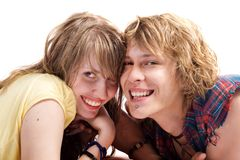 Portrait of smiling couple. Portrait of smiling young beauty couple Stock Photography