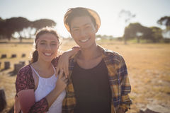 Portrait smiling couple standing together Stock Photos