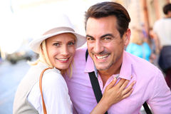 Portrait of smiling couple in vacation Stock Photography