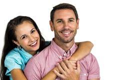 Portrait of smiling couple. On white background Royalty Free Stock Photo