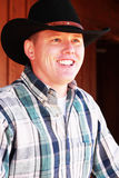 Portrait of Smiling Cowboy Royalty Free Stock Image