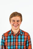 Portrait of smiling cute boy Stock Photo