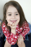Portrait smiling cute girl Stock Images