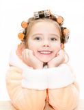 Portrait of smiling cute little girl Royalty Free Stock Image
