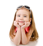 Portrait of smiling cute little girl isolated Royalty Free Stock Photography