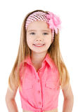 Portrait of smiling cute little girl isolated Royalty Free Stock Images
