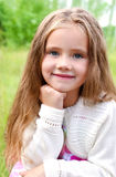 Portrait of smiling cute little girl Royalty Free Stock Photography