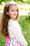 Portrait of smiling cute little girl Royalty Free Stock Images