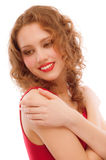 Portrait of smiling darling girl Stock Photography