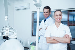 Portrait of smiling dentists Stock Images