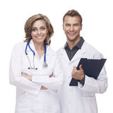 Portrait of a smiling doctors Royalty Free Stock Photo