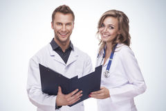 Portrait of a smiling doctors Stock Image