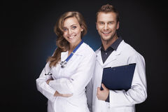 Portrait of a smiling doctors Stock Images