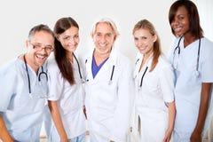 Portrait smiling doctors and colleagues Stock Photos