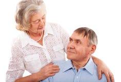 Portrait of smiling elderly couple Royalty Free Stock Image
