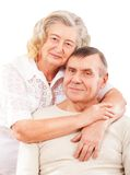 Portrait of smiling elderly couple Royalty Free Stock Photos