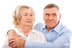 Portrait of smiling elderly couple. Royalty Free Stock Photos