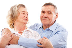 Portrait of smiling elderly couple. Stock Photography