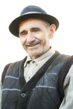 Portrait of smiling elderly man Stock Images
