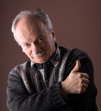 Portrait of a smiling elderly man Stock Photography