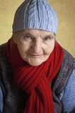 Portrait of a smiling elderly woman Stock Photography