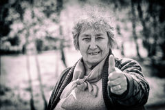 Portrait of smiling elderly woman Royalty Free Stock Image