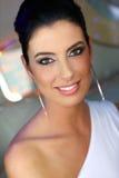 Portrait of smiling elegant woman Stock Images