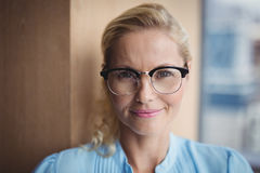 Portrait of smiling executive wearing spectacles Royalty Free Stock Images