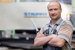 Portrait smiling factory man worker Royalty Free Stock Photography