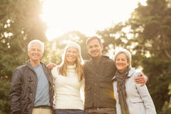 Portrait of a smiling family Stock Image