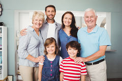 Portrait of smiling family Stock Photo