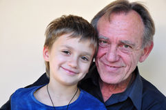 Portrait of smiling father and  son Royalty Free Stock Photos