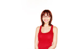 Portrait of smiling female Royalty Free Stock Images