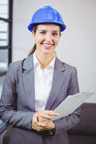Portrait of smiling female architect Royalty Free Stock Photography