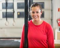 Portrait Of Smiling Female Athlete Stock Images