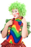 Portrait of smiling female clown Royalty Free Stock Images
