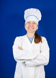 Portrait of smiling female cook Royalty Free Stock Images