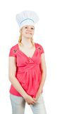 Portrait of smiling female cook Stock Photography