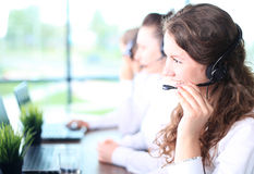 Portrait of smiling female customer service agent Royalty Free Stock Photos