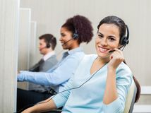 Portrait Of Smiling Female Customer Service Royalty Free Stock Photo