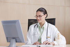 Portrait of smiling female doctor Stock Images