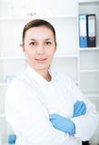 Portrait of a smiling female doctor. Royalty Free Stock Photography