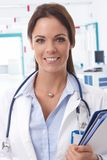 Portrait of smiling female doctor Royalty Free Stock Images