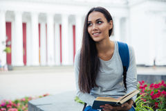 Portrait of a smiling female student Stock Image