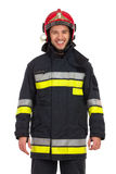 Portrait of smiling fireman. Royalty Free Stock Images