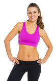 Portrait of smiling fitness young woman Stock Image