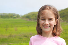 Portrait of  smiling girl Royalty Free Stock Photos
