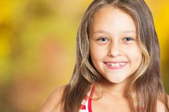 Portrait of a smiling girl Stock Photos