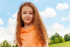 Portrait of smiling girl Stock Photos