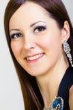 Portrait of smiling girl dancer. studio Stock Image